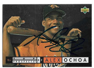 Alex Ochoa Signed 1994 Upper Deck Baseball Card - Baltimore Orioles