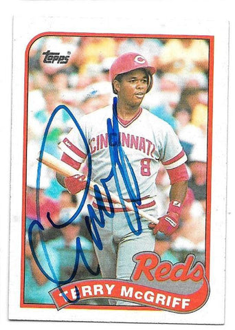 Terry McGriff Signed 1989 Topps Baseball Card - Cincinnati Reds
