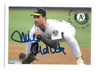 Mike Aldrete Signed 1994 Fleer Baseball Card - Oakland A's
