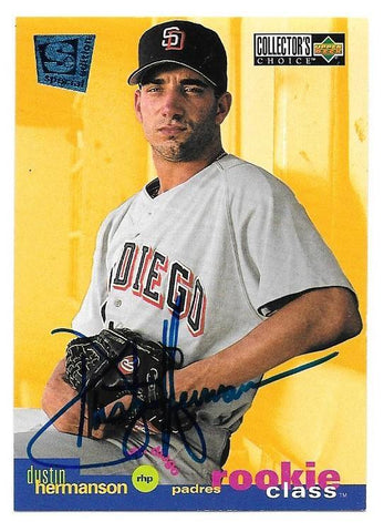 Dustin Hermanson Signed 1995 Collector's Choice SE Baseball Card - San Diego Padres