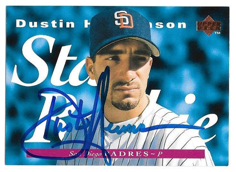 Dustin Hermanson Signed 1995 Upper Deck Baseball Card - San Diego Padres