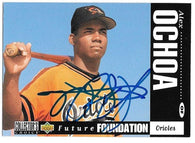 Alex Ochoa Signed 1994 Collector's Choice Baseball Card - Baltimore Orioles
