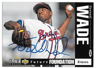 Terrell Wade Signed 1994 Collector's Choice Baseball Card - Atlanta Braves