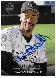 Ellis Burks Signed 1995 Upper Deck Electric Diamond Baseball Card - Colorado Rockies