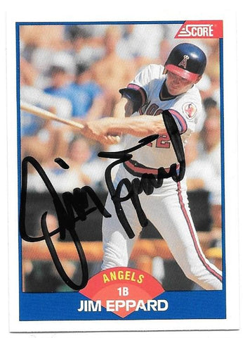 Jim Eppard Signed 1989 Score Baseball Card - California Angels - PastPros