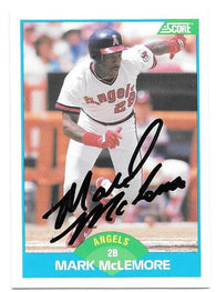 Mark McLemore Signed 1989 Score Baseball Card - California Angels - PastPros