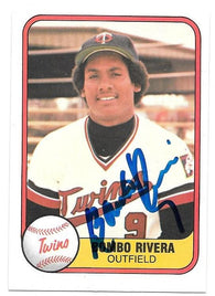 Bombo Rivera Signed 1981 Fleer Baseball Card - Minnesota Twins - PastPros