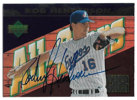 Rod Henderson Signed 1994 Upper Deck Minors A/S Baseball Card - Montreal Expos