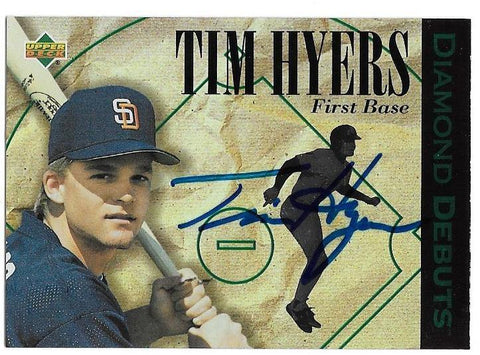 Tim Hyers Signed 1994 Upper Deck Diamond Debuts Baseball Card - San Diego Padres