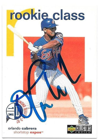 Orlando Cabrera Signed 1998 Collector's Choice Baseball Card - Montreal Expos