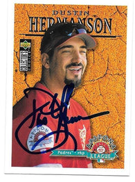 Dustin Hermanson Signed 1996 Collector's Choice Baseball Card - San Diego Padres