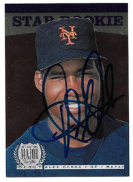 Alex Ochoa Signed 1996 Upper Deck Baseball Card - New York Mets