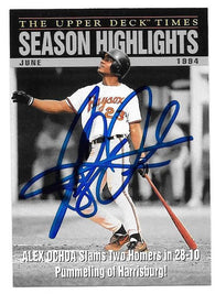 Alex Ochoa Signed 1995 Upper Deck Minors Highlights Baseball Card - Baltimore Orioles