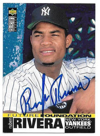 Ruben Rivera Signed 1995 Collector's Choice Baseball Card - New York Yankees
