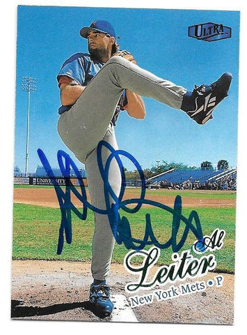 Al Leiter Signed 1998 Ultra Baseball Card - New York Mets - PastPros