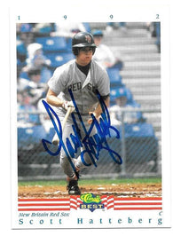 Scott Hatteberg Signed 1992 Classic Best Baseball Card