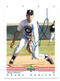 Shane Andrews Signed 1992 Classic Best Baseball Card