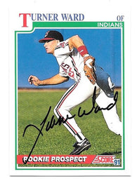 Turner Ward Signed 1991 Score Baseball Card - Cleveland Indians - PastPros