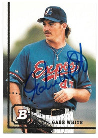 Gabe White Signed 1994 Bowman Baseball Card - Montreal Expos