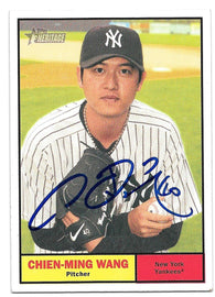 Chien-Ming Wang Signed 2010 Topps Heritage Baseball Card - New York Yankees - PastPros