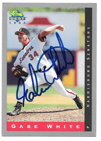Gabe White Signed 1993 Classic Best Baseball Card