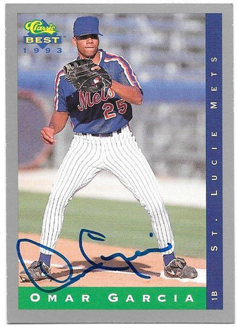 Omar Garcia Signed 1993 Classic Best Baseball Card