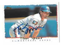 Tim Spehr Signed 1995 Topps Baseball Card - Montreal Expos
