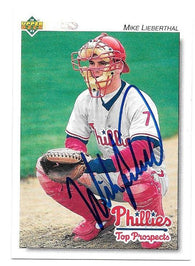 Mike Lieberthal Signed 1992 Upper Deck Minors Baseball Card - Philadelphia Phillies