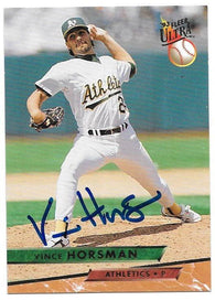 Vince Horsman Signed 1993 Fleer Ultra Baseball Card - Oakland A's
