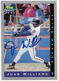 Juan Williams Signed 1993 Classic Best Baseball Card