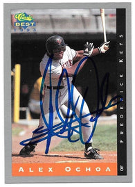 Alex Ochoa Signed 1993 Classic Best Baseball Card