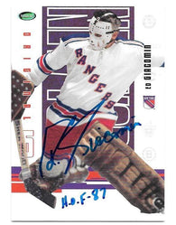 Ed Giacomin Signed 2004-05 In The Game Hockey Card - New York Rangers