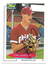 Toby Borland Signed 1991 Classic Best Baseball Card