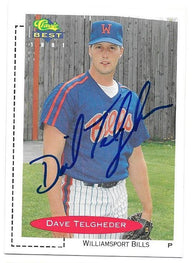 Dave Telgheder Signed 1991 Classic Best Baseball Card