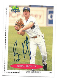 Brian Kowitz Signed 1991 Classic Best Baseball Card
