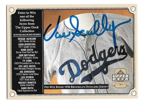 Vin Scully Signed 2000 Upper Deck Sweepstakes Baseball Card - Los Angeles Dodgers - PastPros