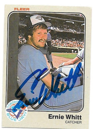 Ernie Whitt Signed 1983 Fleer Baseball Card - Toronto Blue Jays - PastPros