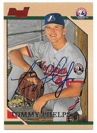 Tommy Phelps Signed 1996 Bowman Baseball Card - Montreal Expos - PastPros