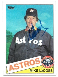 Mike Lacoss Signed 1985 Topps Baseball Card - Houston Astros
