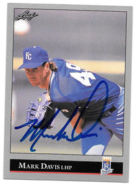 Mark Davis Signed 1992 Leaf Baseball Card - Kansas City Royals - PastPros