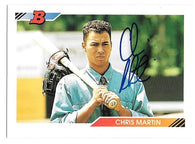Chris Martin Signed 1992 Bowman Baseball Card - Montreal Expos - PastPros