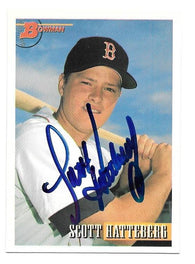 Scott Hatteberg Signed 1993 Bowman Baseball Card - Boston Red Sox