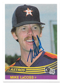 Mike Lacoss Signed 1984 Donruss Baseball Card - Houston Astros