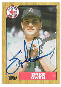 Spike Owen Signed 1987 Topps Baseball Card - Boston Red Sox - PastPros
