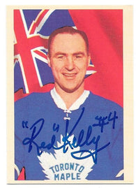 Red Kelly Signed 1993-94 Parkhurst Reprint Hockey Card - Toronto Maple Leafs