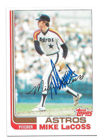 Mike Lacoss Signed 1982 Topps Baseball Card - Houston Astros