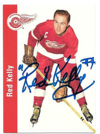 Red Kelly Signed 1994-95 Parkhurst Missing Link Hockey Card - Detroit Red Wings