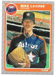 Mike Lacoss Signed 1985 Fleer Baseball Card - Houston Astros