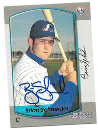 Brian Schneider Signed 2000 Bowman Baseball Card - Montreal Expos
