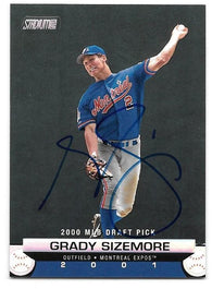 Grady Sizemore Signed 2000 Topps Stadium Club Baseball Card - Montreal Expos - PastPros